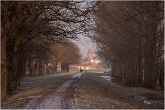 Elberadweg am frühen Morgen