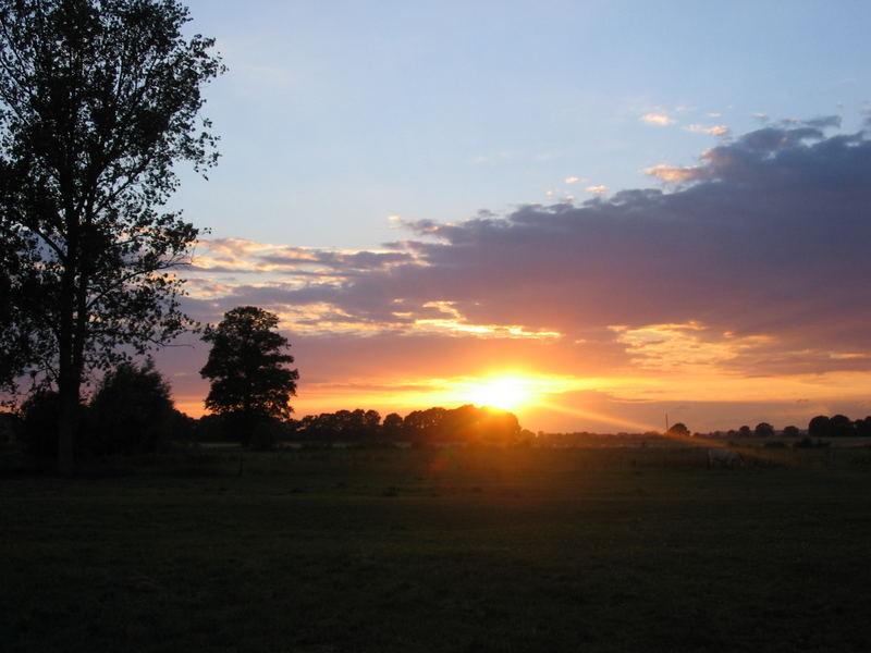 Elbetal-Sonnenuntergang