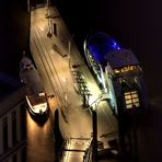 Elbphilharmonie 19. Etage - Mitternacht an der Schiffsanlegestation