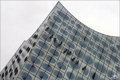 Elbphilharmonie - Lavage des vitres