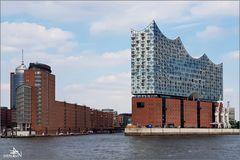 Elbphilharmonie vue de l'Elbe