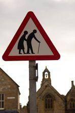"""""""elderly people crossing"""" in England :-)"""