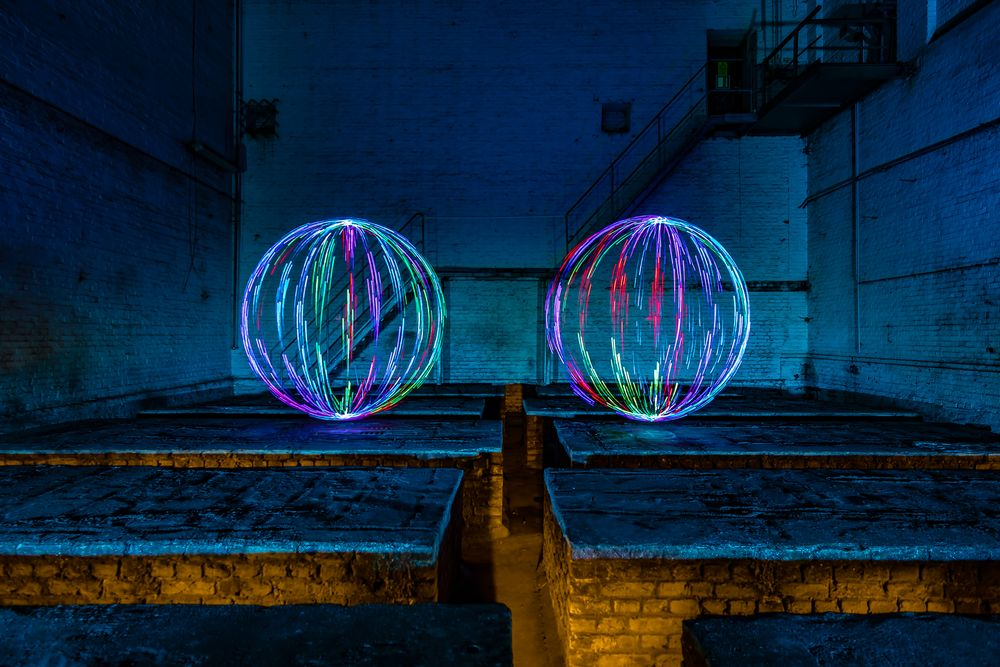 Electrical Movements in the Dark #280 - Two Colored Orbs