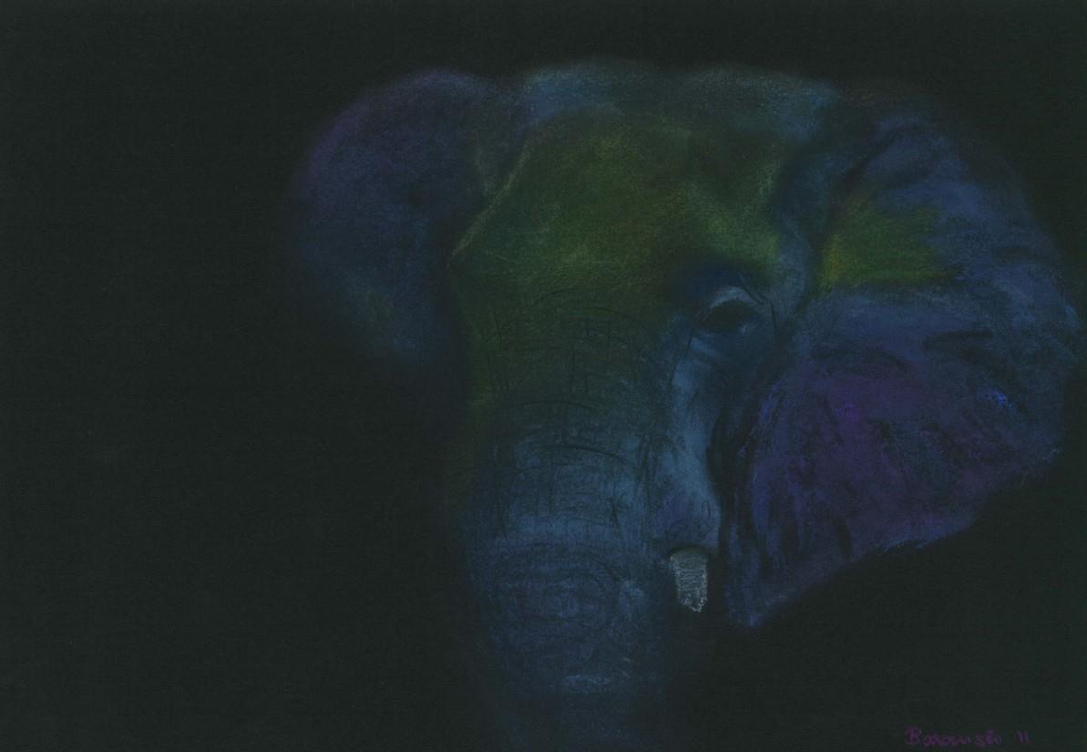 Elefant in Pastell