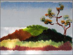 Elefantische Landschaftsmalerei