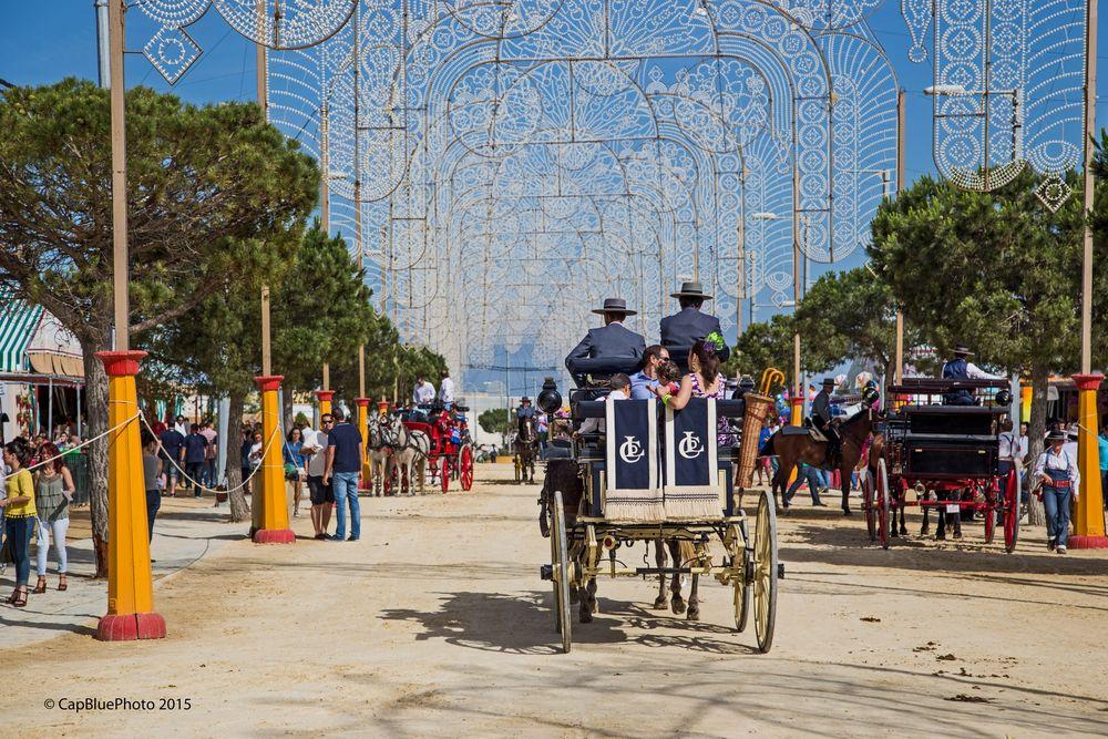 Elegante Kutschen auf der Feria Chiclana