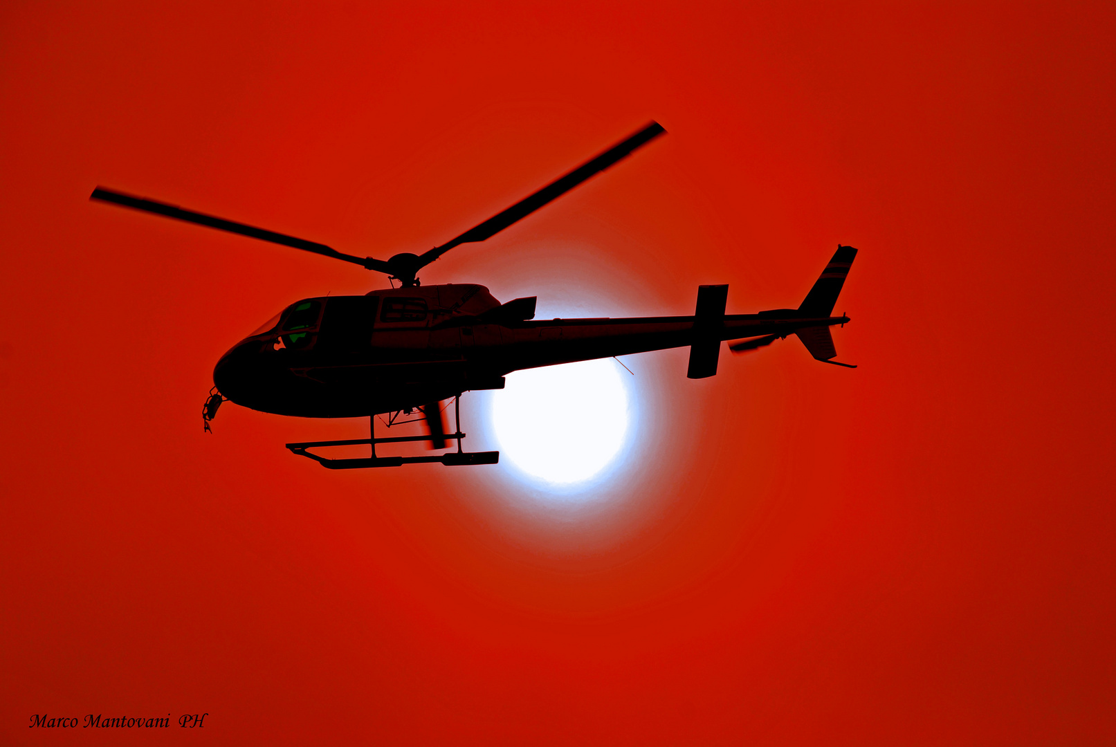 Elicopter sunset