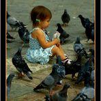 ..Elisa e i colombi....