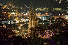 Elisabethkirche Marburg bei Nacht