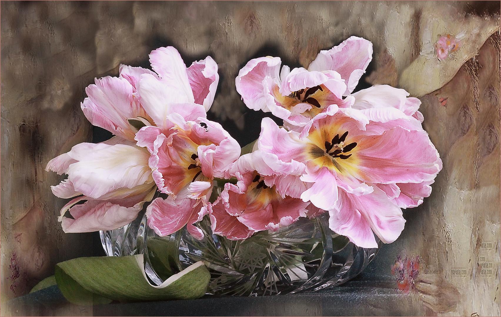 Ella   y los tulipanes
