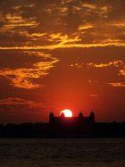 Ellis Island Sunset