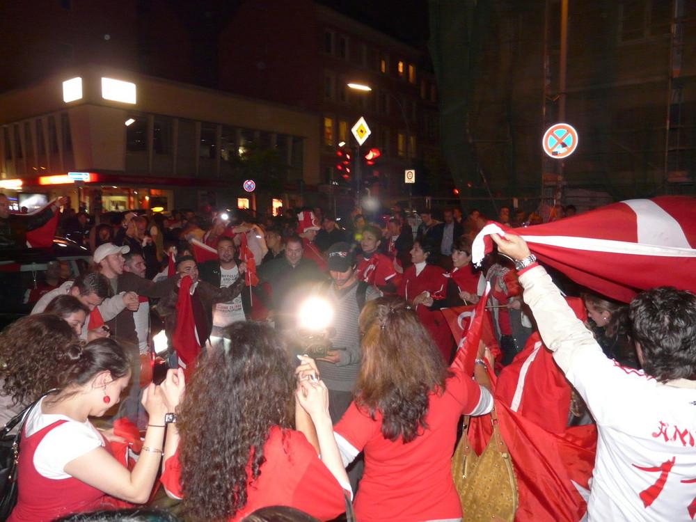 EM-2008 Hamburg Schanze nach dem Spiel