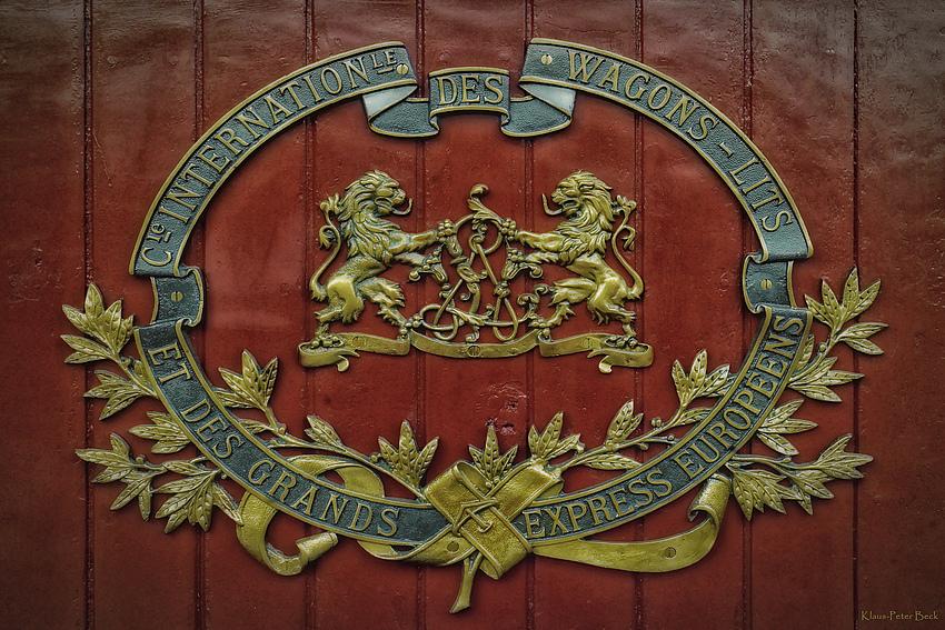Emblem auf den Wagons des Orient Express