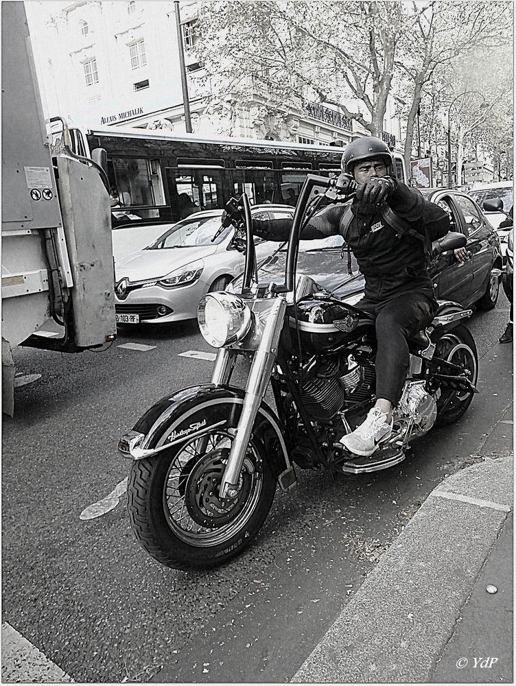 Embouteillages sur les Grands Boulevards...
