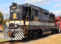 EMD GP30HH SOU# 2601,North Carolina Transportation Museum, Spencher, NC, USA