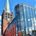 Emden - Schweizer Kirche mit angrenzender Johannes a Lasco Bibliothek