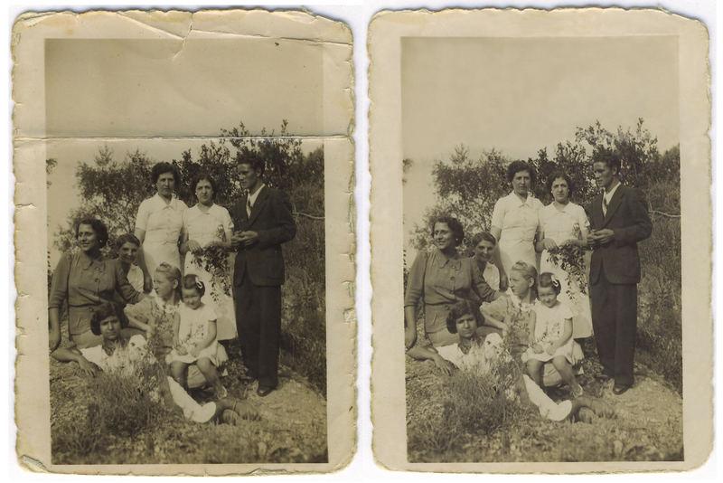 Emma, mia madre, con i fratelli