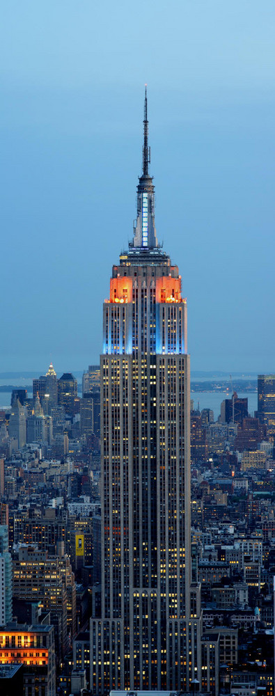 Empire State Building als Hochpanorama
