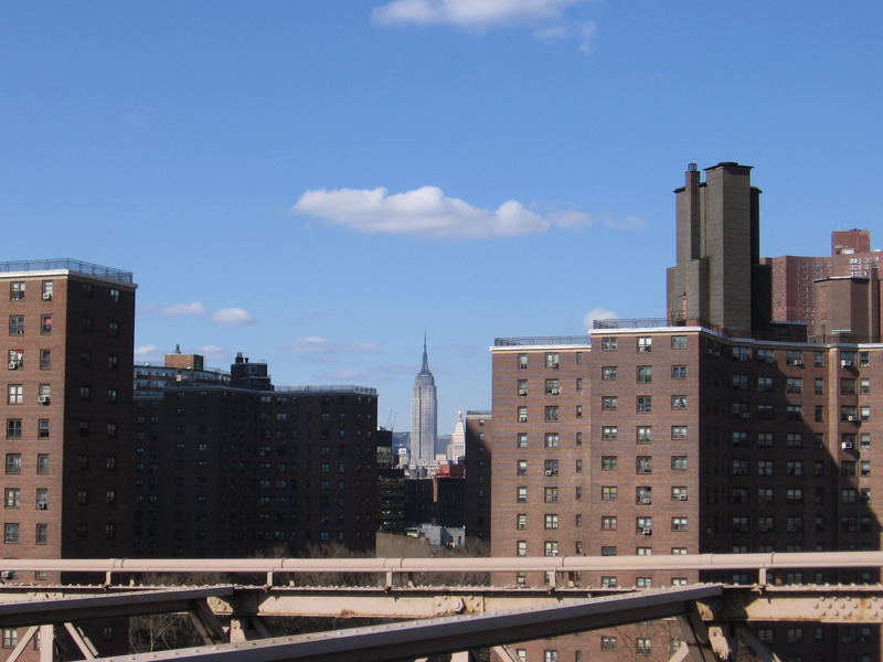 Empire State Building from Brooklyn Bridge