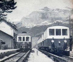 En gare de Servoz - 1958