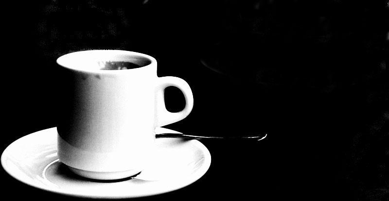 En la cafetería.