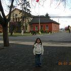 en la plaza