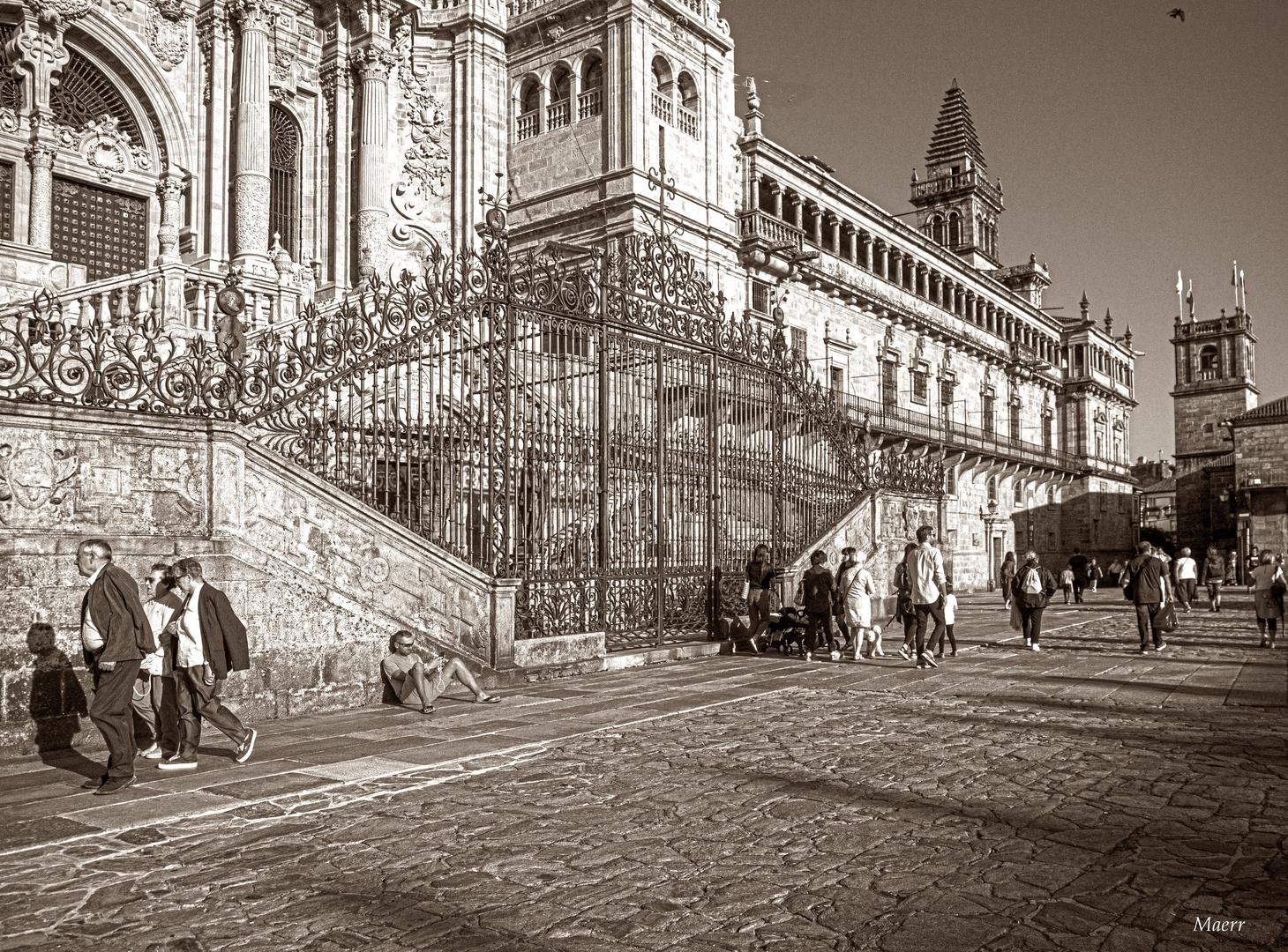 En La Plaza del Obradoiro.