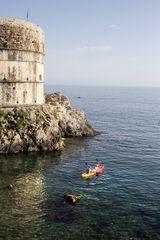 En un bote por Dubrovnik