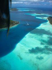 Endanflug auf Bora Bora
