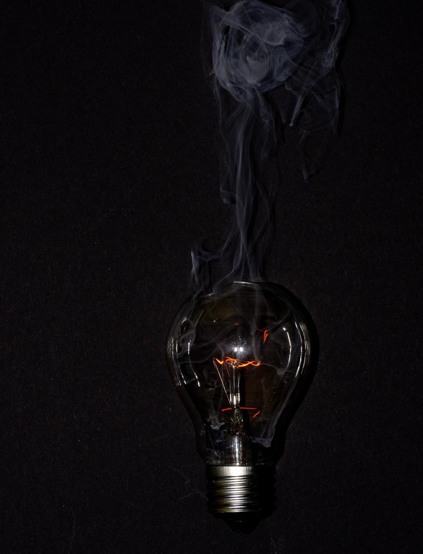 Ende einer Glühbirne