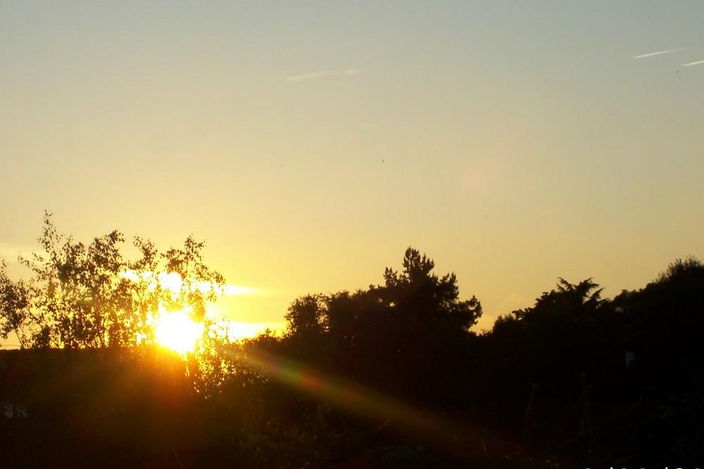 Ende eines Sonnentag