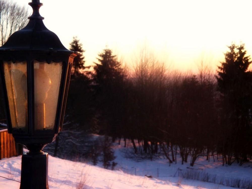 Ende eines Wintertages