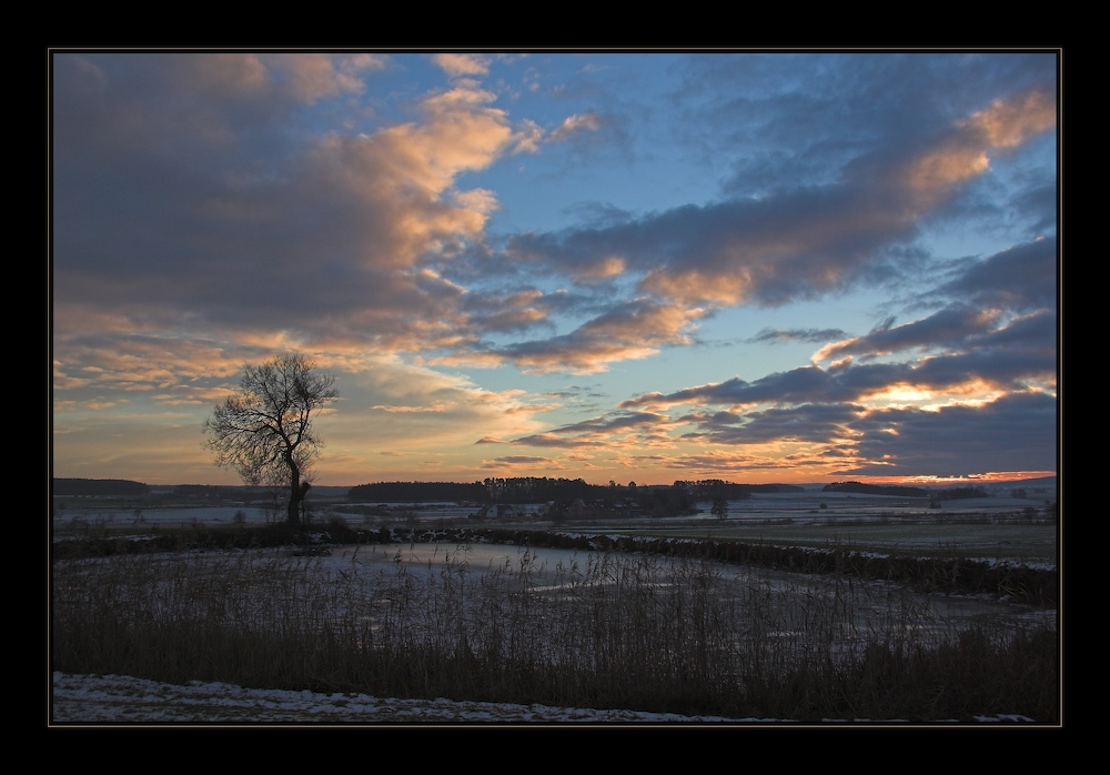 Ende eines Wintertags