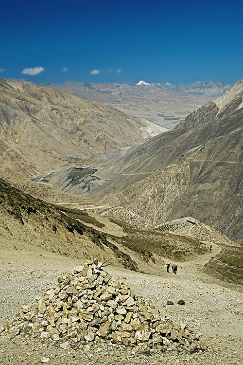 Endlich - der erste Blick in die tibetische Hochebene!