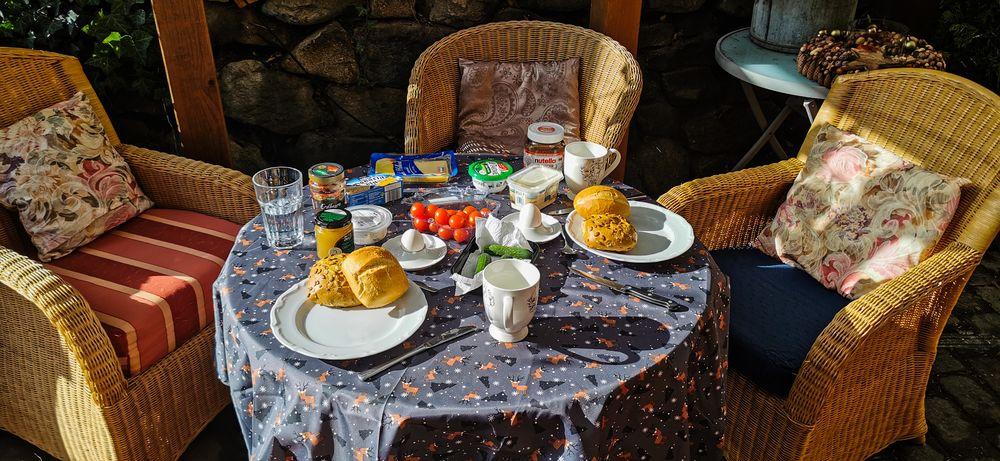 Endlich wieder draußen frühstücken