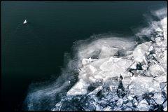 Endlich Winter an der Donau
