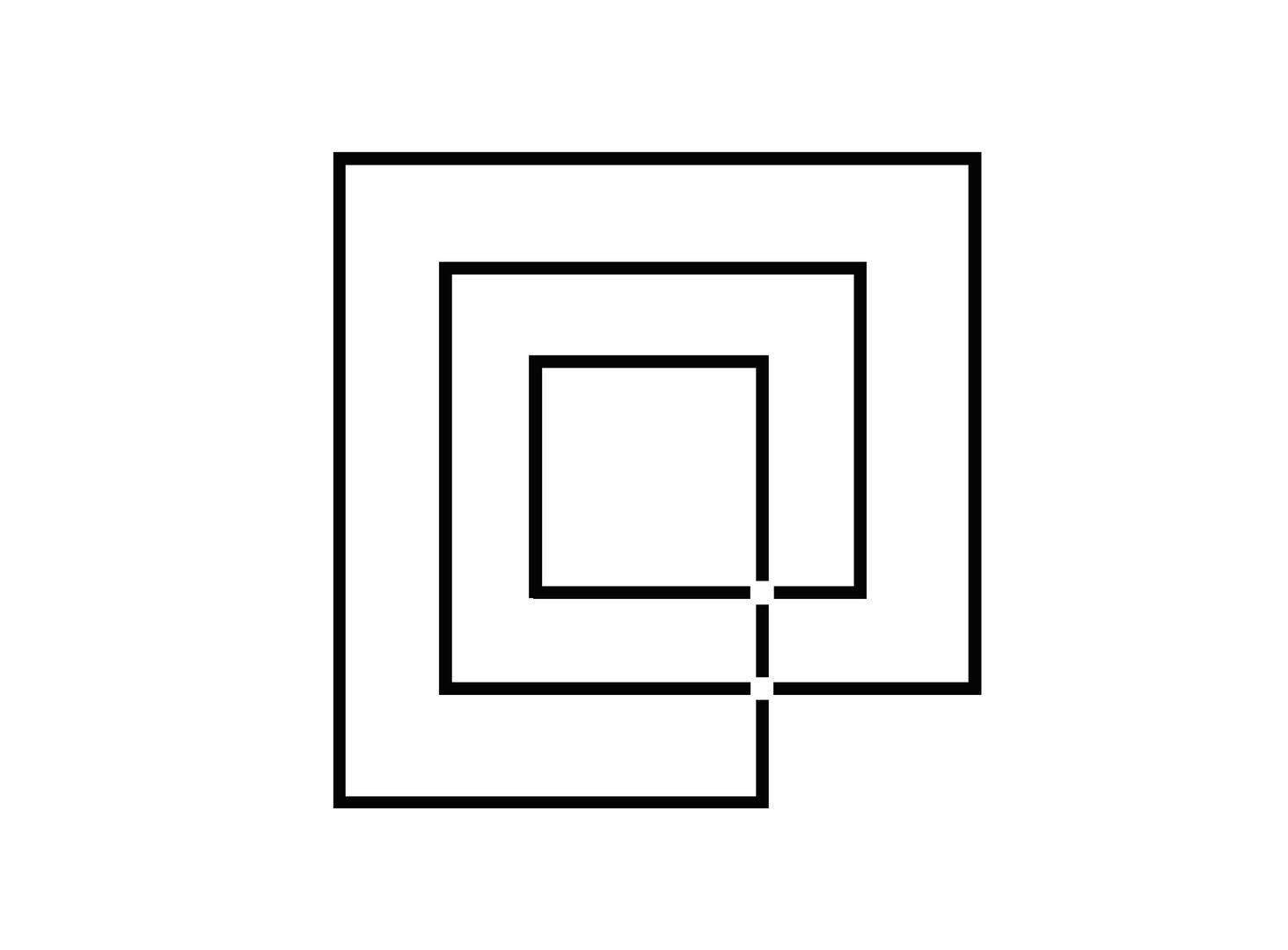 Endlose Linie mit 2 Kreuzen