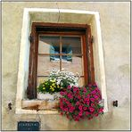 Engadiner Fenster in Guarda