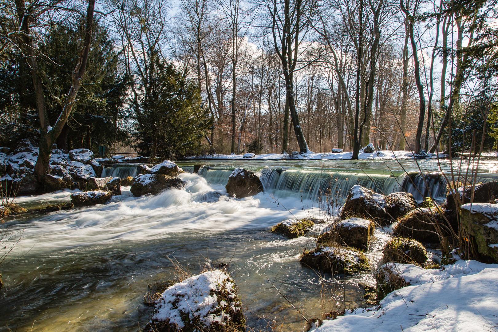 Englischer Garten Im Winter Einfach Schon Foto Bild
