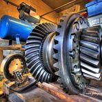 Engrenage d'une locomotive