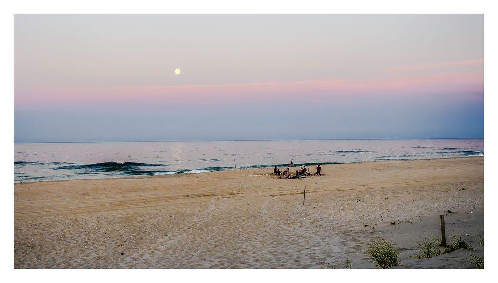 enjoying a summer's eve at the atlantic coast