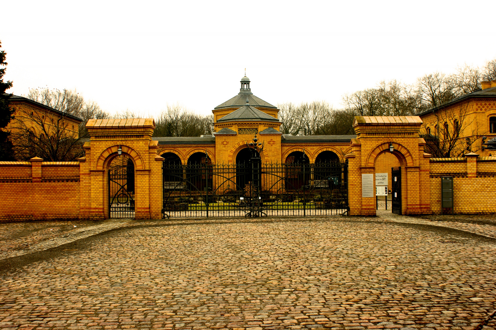 Entrance of the Jewish Cemetery in Berlin-Weissensee