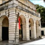 Entrance of the São Carlos Theater in Lisbon