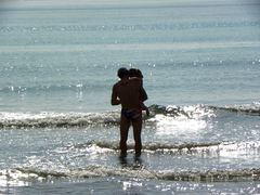 Entrando in acqua.......