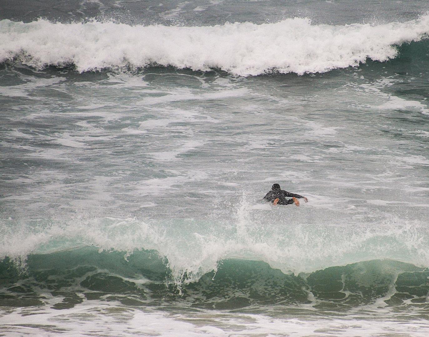 entre deux vagues !