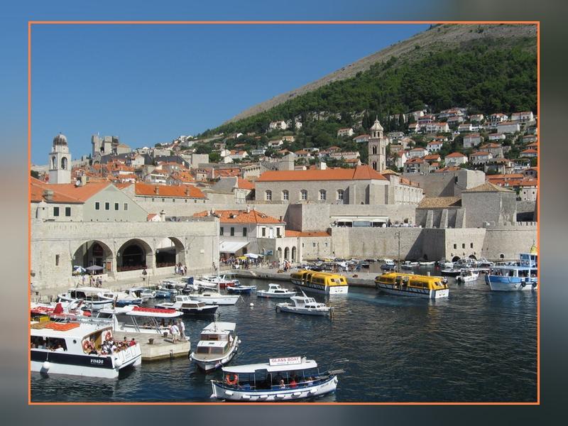 Entrée dans Dubrovnik par le port
