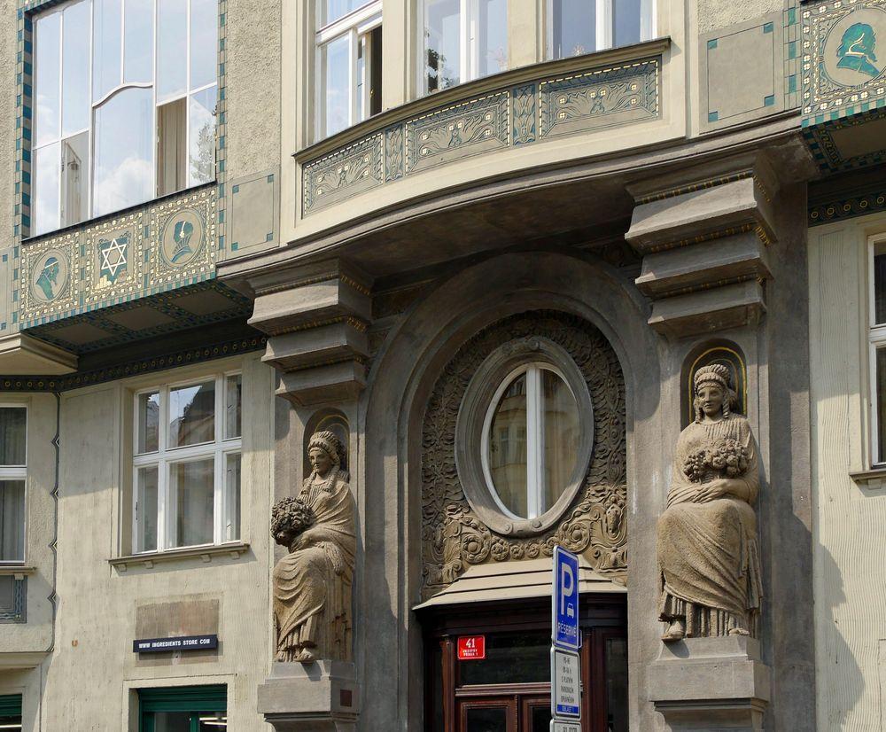 Entree in' s Jüdische Viertel in Prag