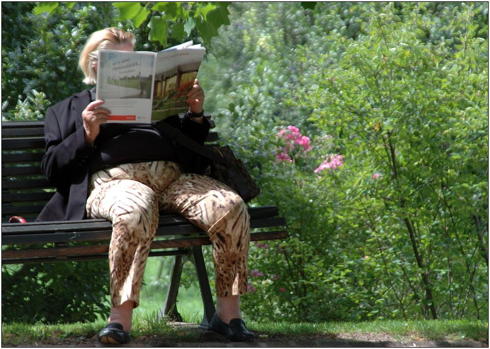... Entspannen im Park ...
