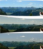 Entstehung des Panoramas (Blick von der Ostlerhütte auf dem Breitenberg)