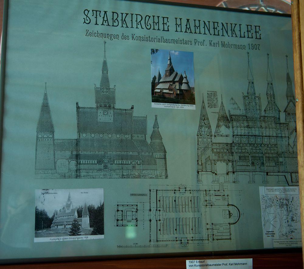 Entwurf der Stabkirche in Hahnenklee (Harz)